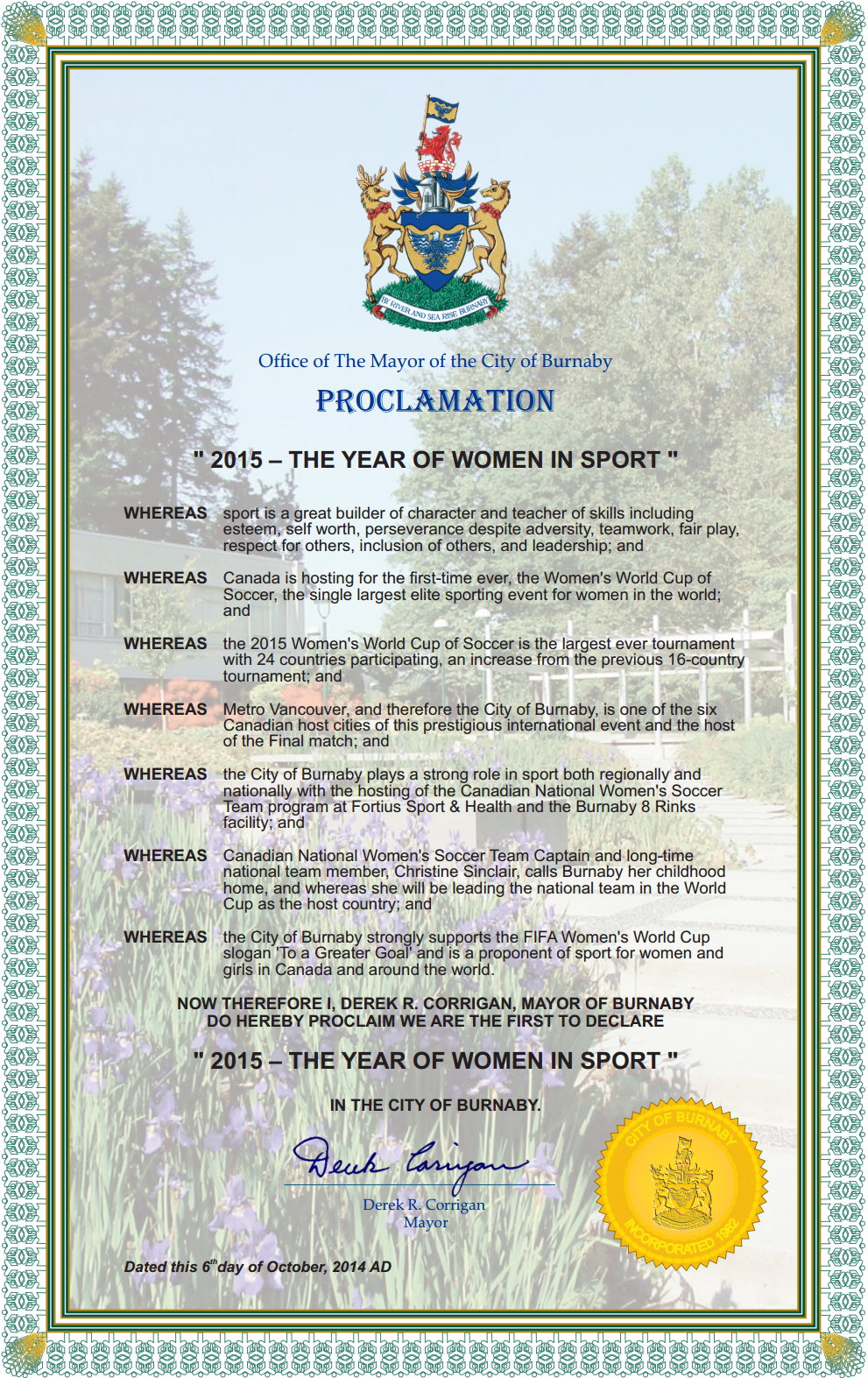 Proclamation Template Word Use The Word Proclamation